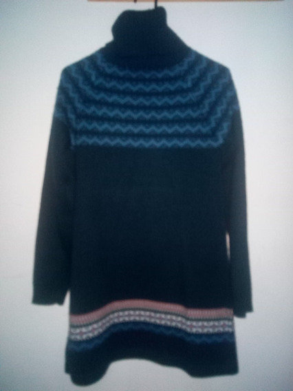Sweater Sueter Abrigo Tipo Vestido Invierno Dama, Remate