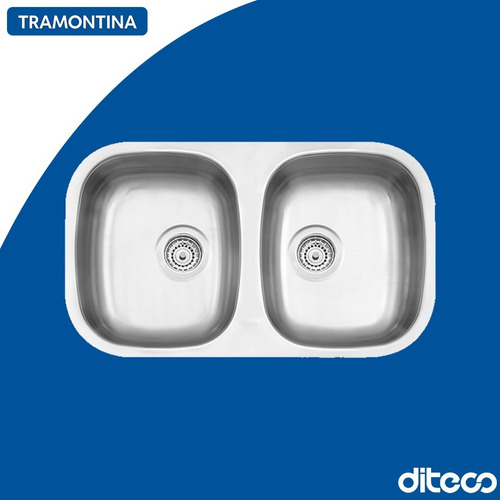 Imagen 1 de 1 de Tramontina 94030/103 Bacha Doble 77x45x15,2cm Satinada