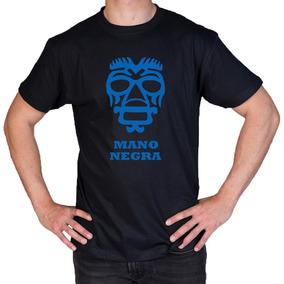 Camiseta Estampada Lucha Libre / Mano Negra