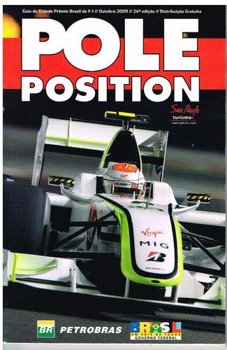 Revista Guia Gp Brasil Pole Position Número 24 Ano 2009
