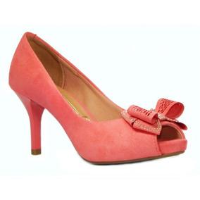 Sapato Vizzano Feminino Peep Toe - 1781426 - Rosa