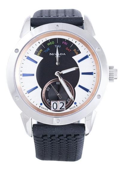 Reloj Nivada Diplomat Nvng30771gacbi Hombre Original