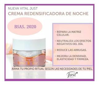 Crema Facial Redensificadora De Noche Vital Just 50g Antiage