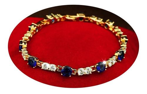 Imagen 1 de 7 de Pulsera Brazalete Oro 18k Joyería Fino Mujer Dama Moderno