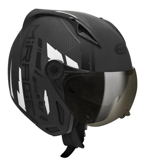 Capacete para moto multi-modular Peels Mirage Techride preto tamanho 58