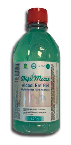 Álcool Em Gel 70% 500 Ml, Antisséptico, Bactericida E Anvisa