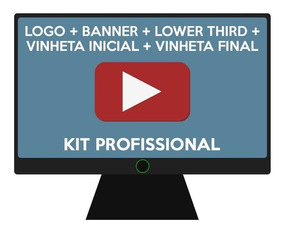 Kit Youtuber - Vinhetas - Banner - Logo - Lower Third - Mais