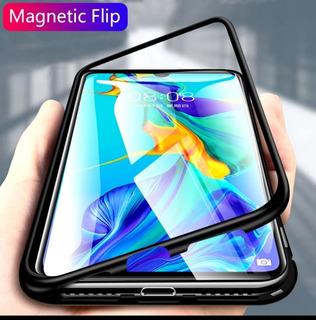 Capa De Vidro De Metal Magnético Para Samsung Galaxy A70