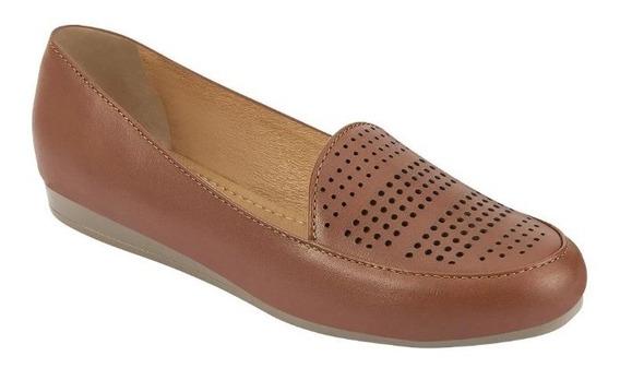 Zapato Estilo Mocasín, Para Dama, Color Miel, Mundo Terra