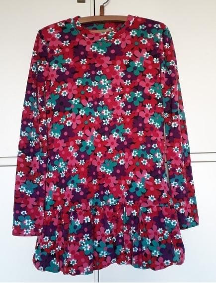 Vestido Nena Floreado P/invierno Bewiki T.8/10