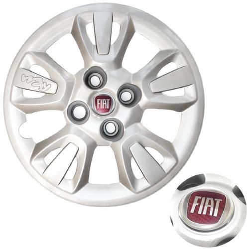 Imagem 1 de 2 de Calota Aro 14 Fiat Uno Way Economy 11 12 13 Emblema Resinado