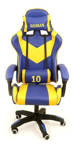 Imagen 1 de 3 de Silla de escritorio Ideon Extreme Hunter Pro gamer ergonómica  boca juniors roman con tapizado de cuero sintético