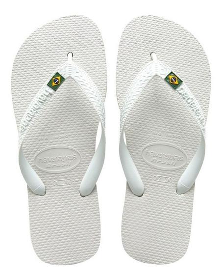 Zonazero Havaianas Ojotas Brasil Blanco Unisex Originales