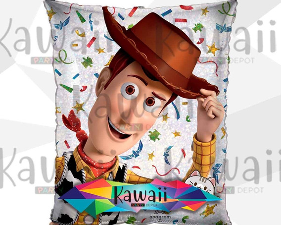 Globo Metálico Toy Story - Woody - Helio - 55 Cm
