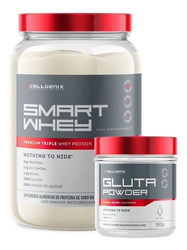 Kit Smart Whey Protein 900gr + Glutamina 300gr - Cellgenix