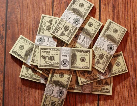 Billetes Cotillón Utileria Dolares Pack X 100 Unid.