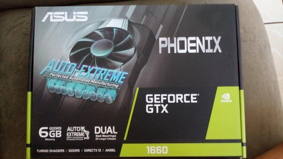 Placa De Vídeo Asus Phoenix Nvidia Geforce Gtx 1660 6gb, Gdd