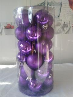 Esferas Navideñas Para Arbol De Navidad Plástico