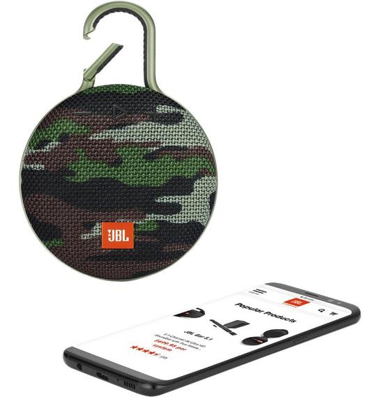 Caixa De Som Bluetooth Jbl Clip 3 Original - Camuflada