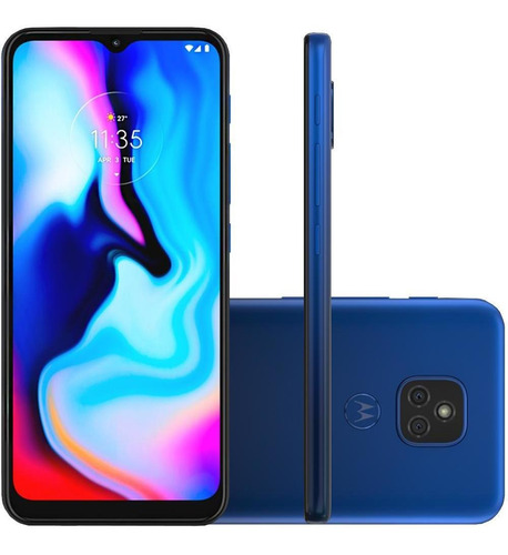 Celular Motorola Moto E7 Plus Azul 64gb 4gb Cam 48mp + 2mp