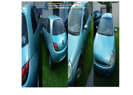 Ford Ka/1.0/2001/gl, Motor Zetec Rocan, Vidro Eletr/ar Cond