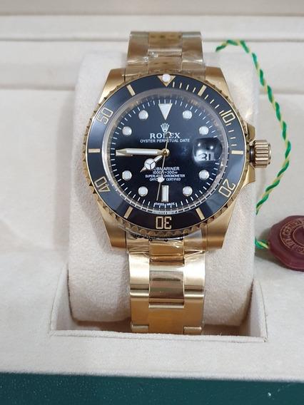 Relogio Rolex Gold Black