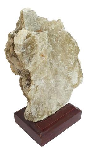 Drusa De Mica  Na Base - Pedra Do Brilho E Da Serenidade
