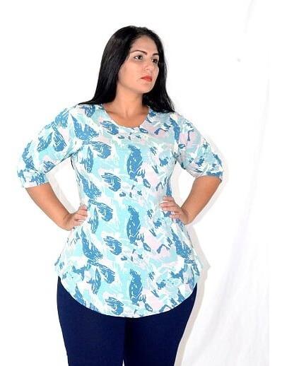 Blusa Camiseta Feminina Estampada Manga 3/4 - P M G Gg Xg