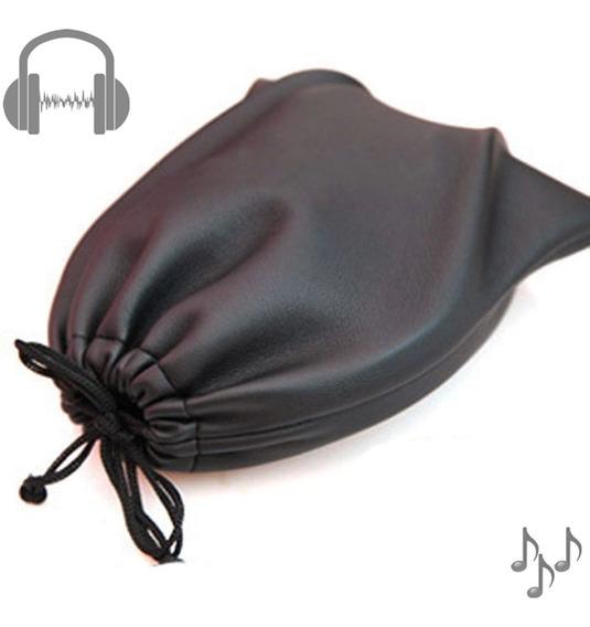 Bolsa Case Porta Fone De Ouvido On Ear Arco Couro