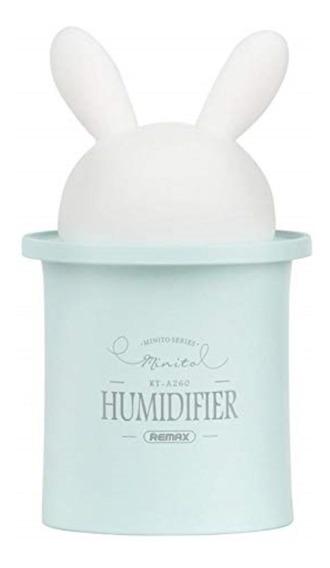 Humidificador Conejo Remax Azul Vapor Casa Cuarto Oficina