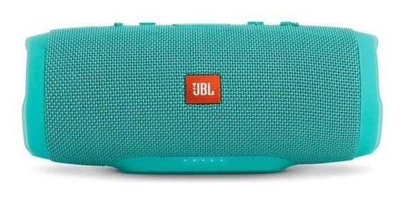 Caixa de som JBL Charge 3 portátil Teal