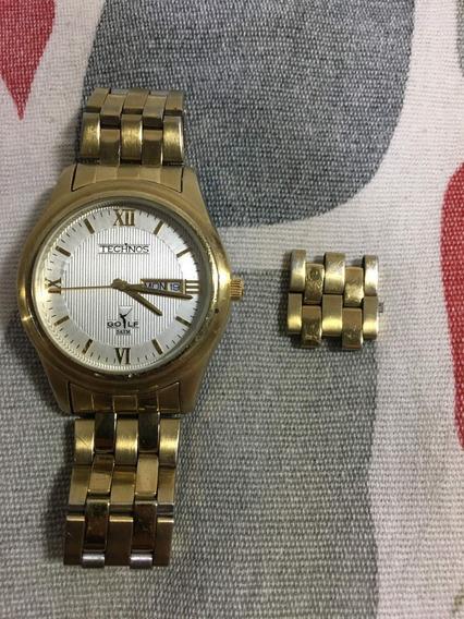 Relógio Technos Dourado Todo Revisado Barato 12x S/juros