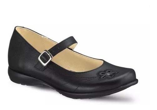 Zapatos Andrea Infantil Escolar 1269 Piel Correa