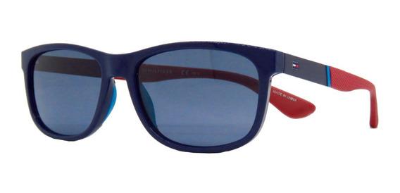Lentes De Sol Tommy Hilfiger Th1520s Blue Soft Square 57mm