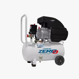 Compresor Aire 25 Litros Inflador 2,5 Hp Zero Con Ruedas