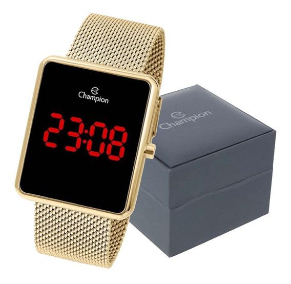Relógio Feminino Champion Digital Quadrado Original Garantia