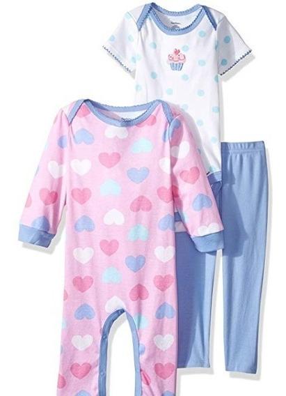 Set Gerber Niña Conjunto Y Pijama Nuevo Original