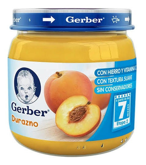 Gerber Para Bebe Papilla Et2 113gr Durazno(24 Unidades)