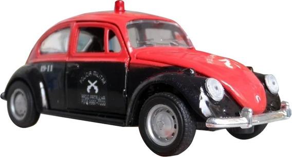 Miniatura Fusca Pm Sp Polícia Militar - Anos 70 Baratinha