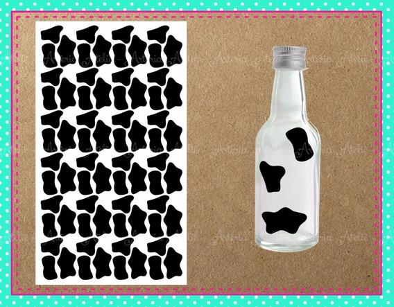 4 Cartelas Adesivo Manchinha Vaca Lembrancinha Fazendinha