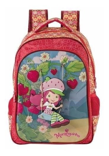 Mochila Escolar Infantil Costas Moranguinho Pop Up 5132