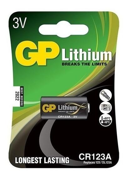 Bateria Pilha 3v Cr123 Lithium Longest Lasting Lacrado Gp