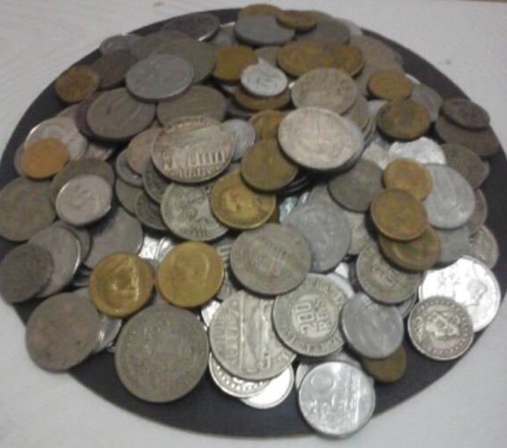 240 Moedas Nacionais( Prata,bronze,níquel,alumínio,aço)