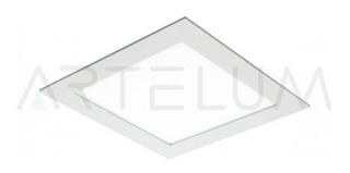 Panel Led 18w Embutir Cuadrado Blanco Luz Calida Hera 2 Artelum