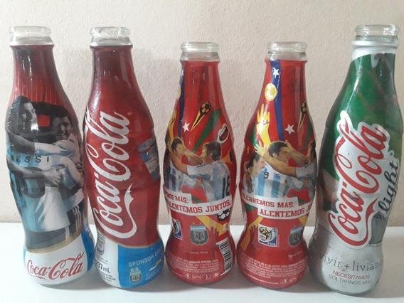 Lote 5 Botellascoca Cola Copa America Otras De Coleccion