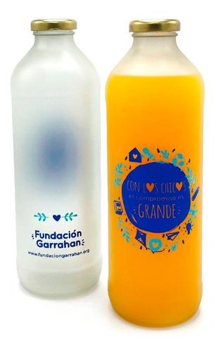 Imagen 1 de 4 de Botella Reutilizable De Vidrio 910ml - Fundación Garrahan