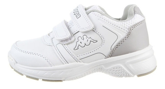 Zapatillas Niños Kappa Logo Rail Kid White Grey