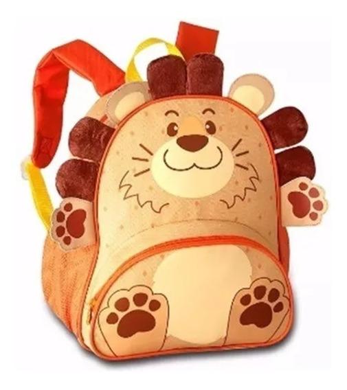 Mochila Infantil Animais Zoo Clio Pets Original - Leão