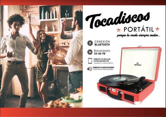 Tocadiscos Portable Nuevo Mywigo Vintage 2x0.8w Rm Tornamesa