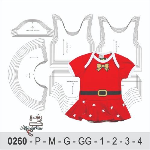 Moldes Digital - Modelagem De Body Mamãe Noel - Natal